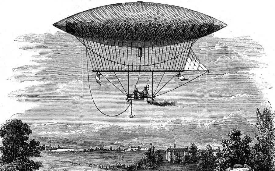 When was the dirigible invented