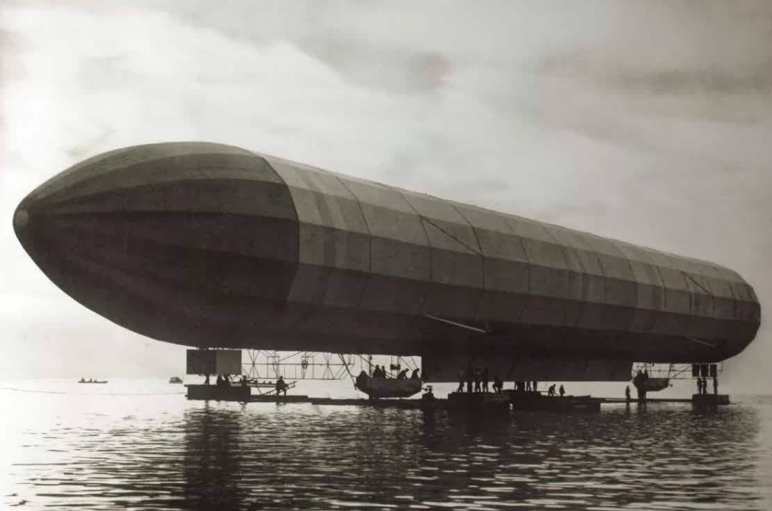 Zeppelin was the first rigid airship